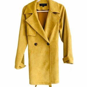 Andrew Marc  mustard pea coat